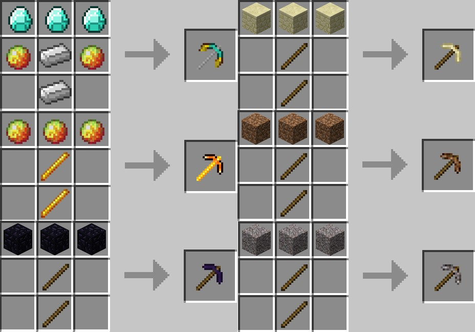 auto-draft-14607-2 More Pickaxes Mod 1.7.10