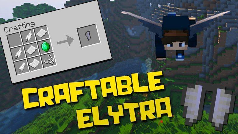 Craftable elytra mod Minecraft Logo