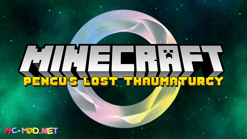 Pengu's Lost Thaumaturgy mod for minecraft logo