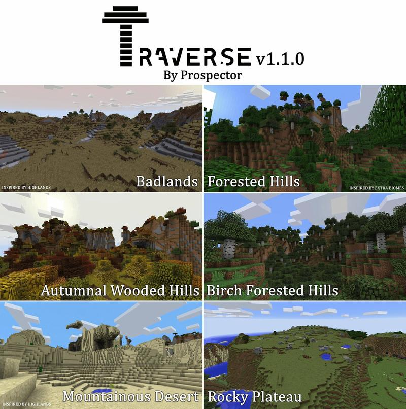 1498581928_667_traverse-mod-1-121-11-2-many-new-biomes Traverse Mod 1.12/1.11.2 (Many new biomes)