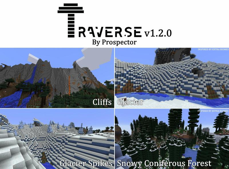 1498581929_922_traverse-mod-1-121-11-2-many-new-biomes Traverse Mod 1.12/1.11.2 (Many new biomes)