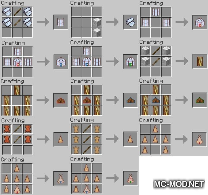 Nomadic Tents Mod for Minecraft 1