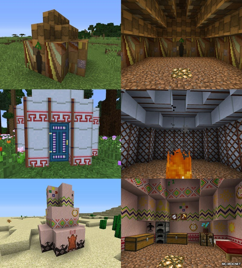 Nomadic Tents Mod for Minecraft 4