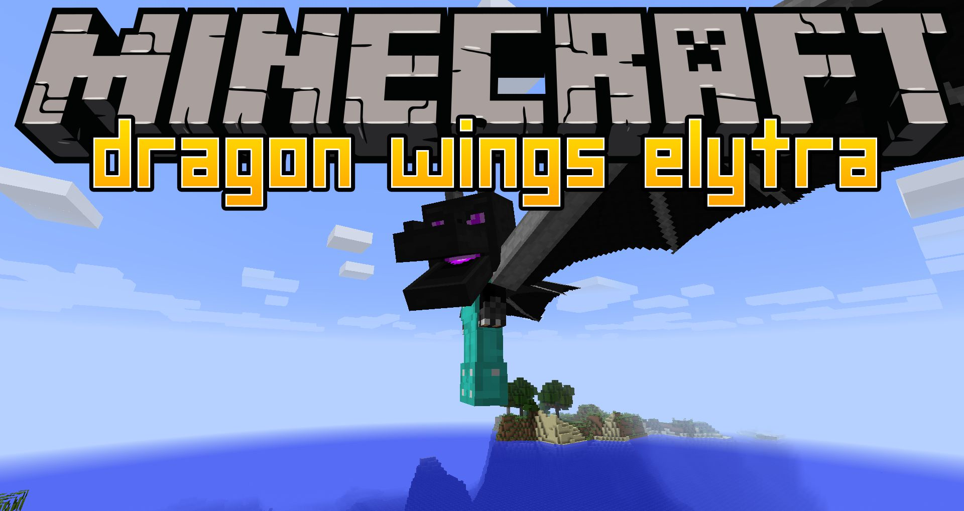 Dragon Wings Elytra Mod 112.11212.12 (Giant dragon wings on your